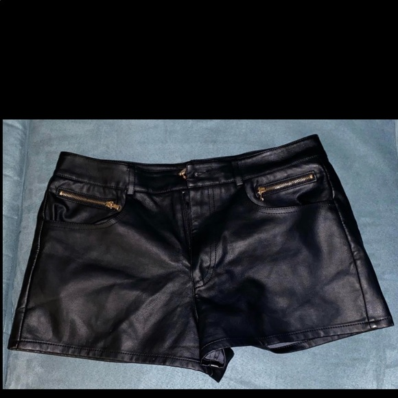 Forever 21 Pants - F21 Leather Shorts